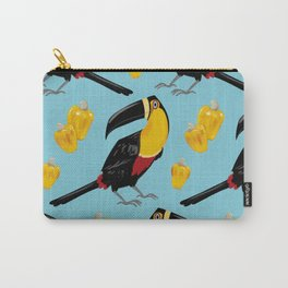 Brazilian Birds & Fruits - Channel-billed Toucan + cashews Carry-All Pouch