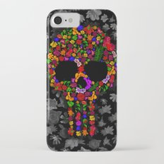 Floral sugar skull iPhone 4 4s 5 5c 6 7, pillow case, mugs and tshirt iPhone 7 Slim Case