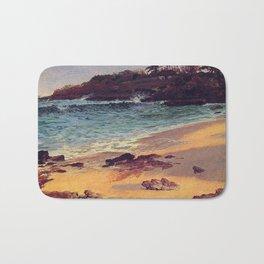 Albert Bierstadt, Bahama Cove.   Landscape oil painting. Bath Mat