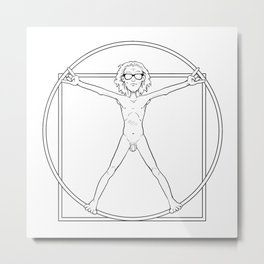 #Vitruvio Metal Print