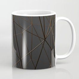 Golden Wireframe Triangles Coffee Mug