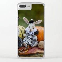 Rabbits Jullien & Florentine Clear iPhone Case