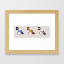 Fat Birds Framed Art Print