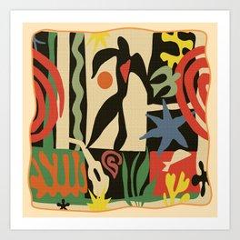 Inspired to Matisse vintage t-shirt Art Print