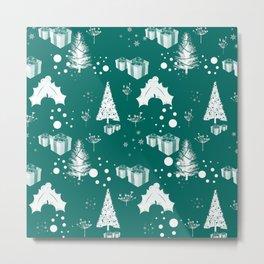 Christmas pattern 3 - #christmas #xmas Metal Print