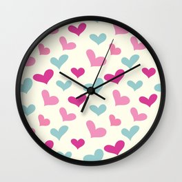 Adorable Hearts Wall Clock