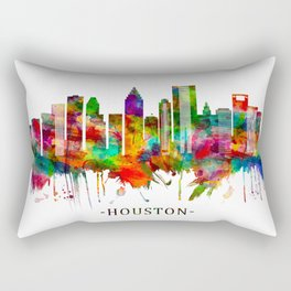 Houston Texas Skyline Rectangular Pillow