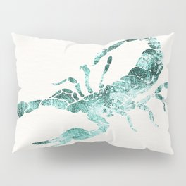 Green Shibori Scorpion  Pillow Sham