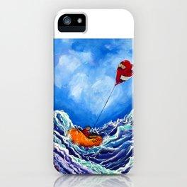 Love's Castaway Love Heartbreak Ocean Life Raft Heart Blue Agony Pain Sorrow Grief Despair iPhone Case