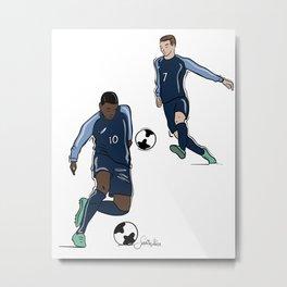 Fifa World Cup Champions Mbappé & Griezmann France Metal Print