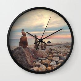 Rock Totems Wall Clock