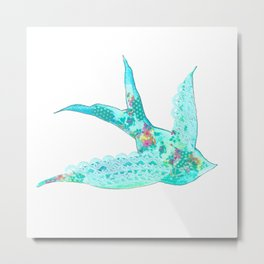 Lighter Blue Swallow Metal Print