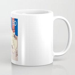 1978 JAPAN Sumo Wrestler Postage Stamp Coffee Mug