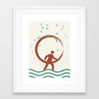 surfing Framed Art Prints featuring Surfing by Yasmina Baggili