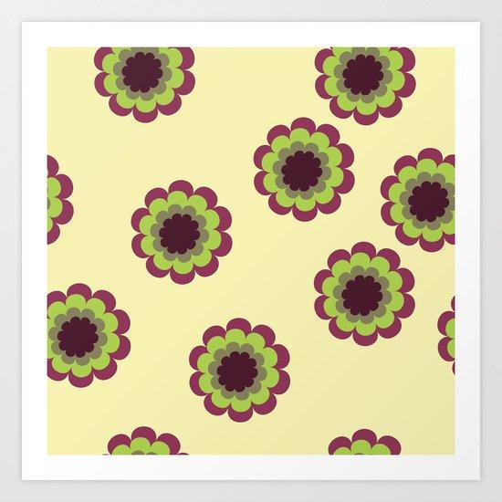 Bordeaux flowers Art Print