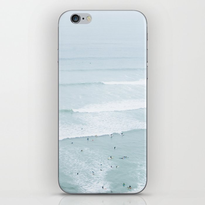 Tiny Surfers from the Sky, Lima, Peru iPhone Skin