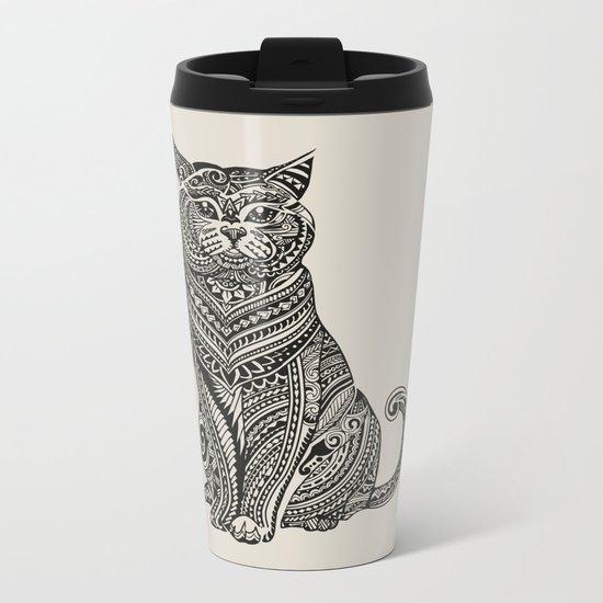 Polynesian British Shorthair cat Metal Travel Mug