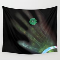 deathly hallows Wall Tapestries featuring Deathly Style by Lucia