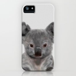 Koala Print, Cute Baby Koala Photo, Australian Animals Photo, Nursery Animals Wall Art iPhone Case