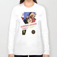 gurren lagann Long Sleeve T-shirts featuring NES Gurren Lagann by IF ONLY