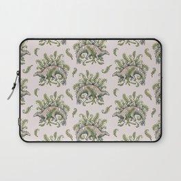 Stegosaurus & Ferns | Dinosaur Botanical Art Laptop Sleeve
