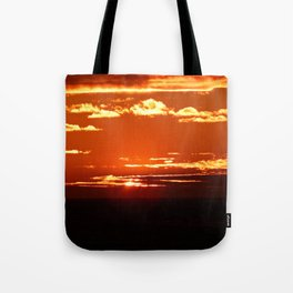 Red Gold Sunset in the Clouds Tote Bag