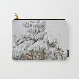 """""""Ghost forest"""". Square.  After the snowstorm Carry-All Pouch"""