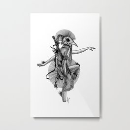Balancing Warrior Metal Print