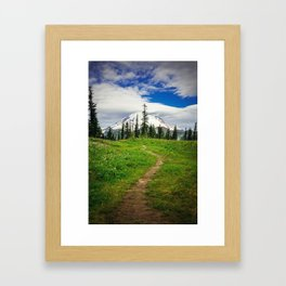 Pathway to the Mountain Framed Art Print