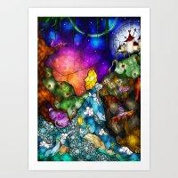 mandie manzano Art Prints featuring Wonderland (Once Upon A Time Series) by Mandie Manzano