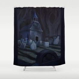 Sleepy Hollow Churchyard Cemetery Shower Curtain