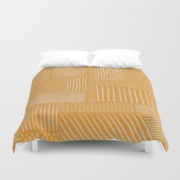 Mud Cloth / Yellow Duvet Cover