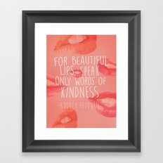 beautiful lips Framed Art Print