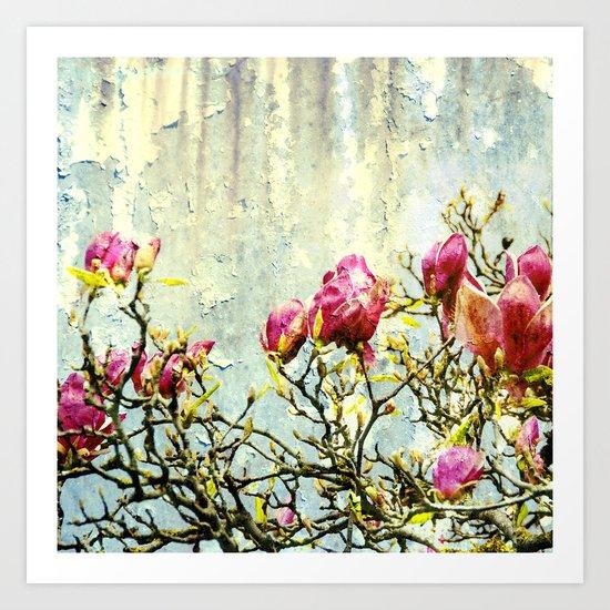OPPOSITE LOVE - Rusted Magnolia Tree - (decrepit beauty) Art Print