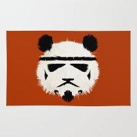 trooper Area & Throw Rugs featuring Panda Trooper by Danny Haas