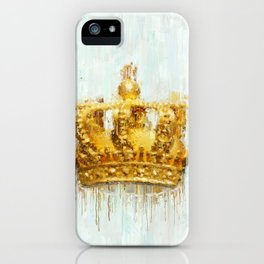 Painted Crown iPhone Case