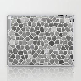 Faux Mosaic in light grays Laptop & iPad Skin