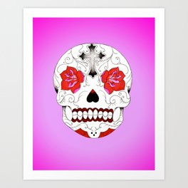 Pink Ink Purple Haze Art Print