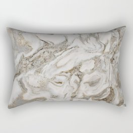 Crema marble Rectangular Pillow