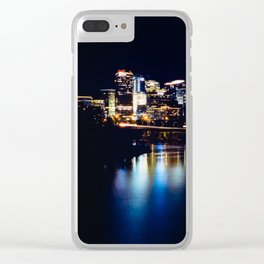 Rosslyn, Virginia reflecting in the Potomac River Clear iPhone Case