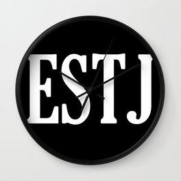 ESTJ Personality Type Wall Clock