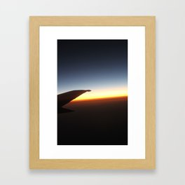 Sunset Above the Clouds Framed Art Print