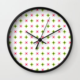 four lines 11 green and pink Wall Clock