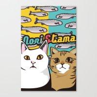nori Canvas Prints featuring Nori&Tama by sol_pro
