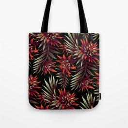 Aechmea Fasciata - Dark Orange / Purple Tote Bag