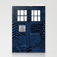 tardis Stationery Cards featuring Tardis by Rebecca Bear