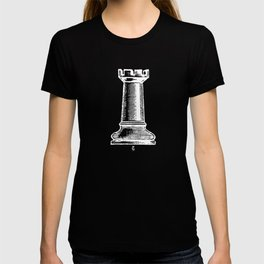 Rook Chess Piece Chess Player Distressed Graphic Art T-shirt