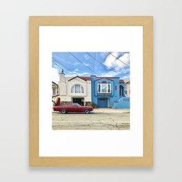 Cars matching houses San Francisco Framed Art Print