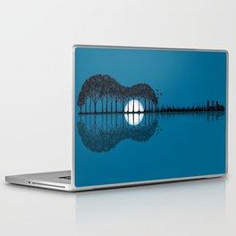 Trees sea and the moon turned guitar Laptop & iPad Skin