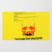 moustache Area & Throw Rugs featuring Moustache by morganPASLIER